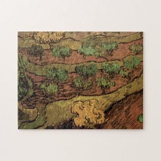 Van Gogh Olive Trees Against a Slope of a Hill Puzzles