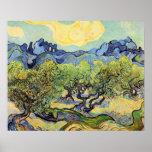 Van Gogh, Olive Trees, Vintage Post Impressionism Posters