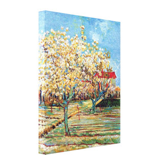 Van Gogh - Orchard In Blossom Stretched Canvas Print