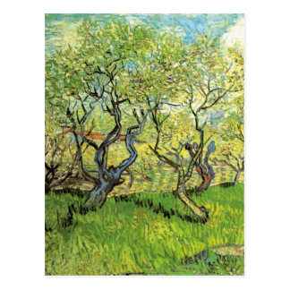 Van Gogh Orchard in Blossom, Vintage Fine Art Postcard