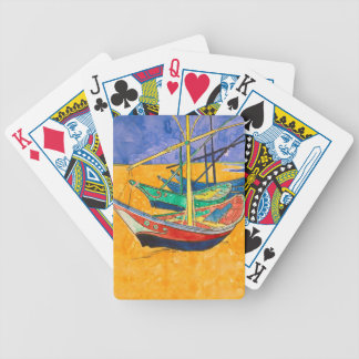 Van Gogh Painting Famous Boats Bicycle Playing Cards