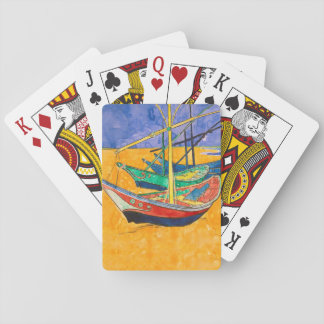 Van Gogh Painting Famous Boats Playing Cards
