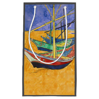 Van Gogh Painting Famous Boats Small Gift Bag