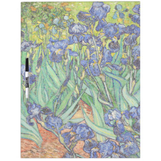 Van Gogh Painting Irises Flowers Dry Erase Board