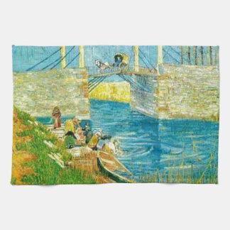 Van Gogh Painting Langlois Brige at Arles Tea Towel