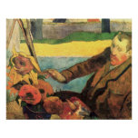 Van Gogh Painting Sunflowers by Gauguin Poster
