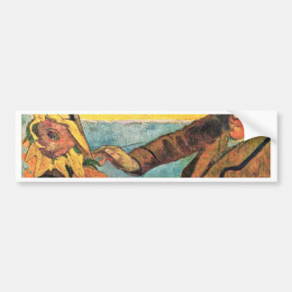 Van Gogh Painting Sunflowers By Paul Gauguin Bumper Sticker