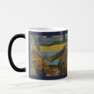 Van Gogh Painting Sunflowers by Paul Gauguin Magic Mug