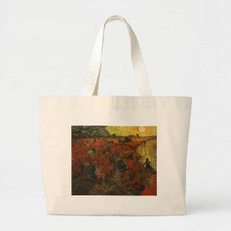 Van Gogh Painting: The Red Vineyard Canvas Bags
