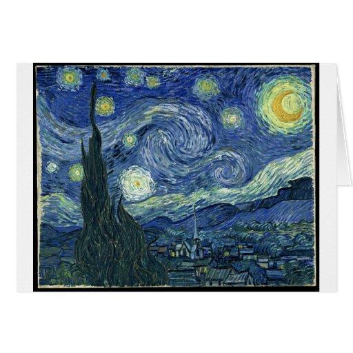 Van Gogh Paintings: Starry Night Van Gogh Card