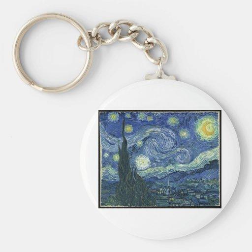 Van Gogh Paintings: Starry Night Van Gogh Key Chains