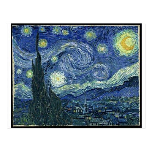 Van Gogh Paintings: Starry Night Van Gogh Post Cards