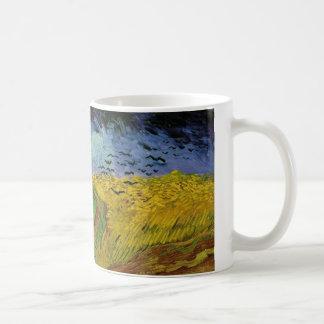 Van Gogh Paintings: Van Gogh Wheat Field Basic White Mug