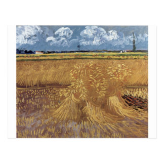 Van Gogh Paintings: Van Gogh Wheat Field Postcard