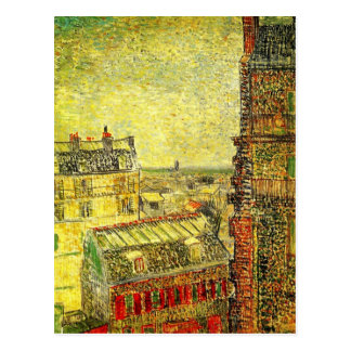 Van Gogh Paris View from Vincent's Room, Rue Lepic Postcard