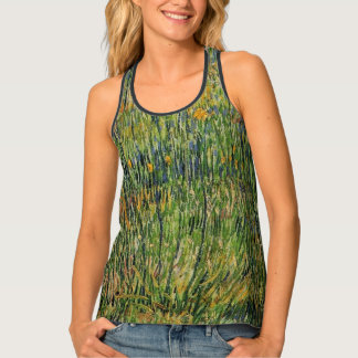Van Gogh Pasture in Bloom, Vintage Nature Fine Art Singlet