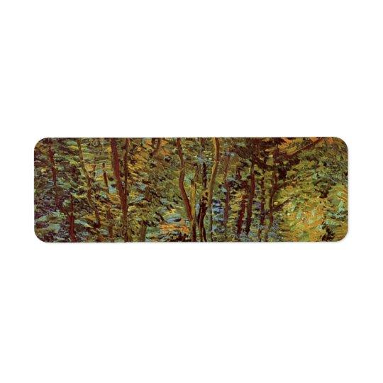 Van Gogh Path in the Woods, Vintage Fine Art Return Address Label
