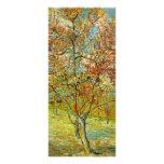 Van Gogh Pink Peach Tree in Blossom, Vintage Art Customised Rack Card