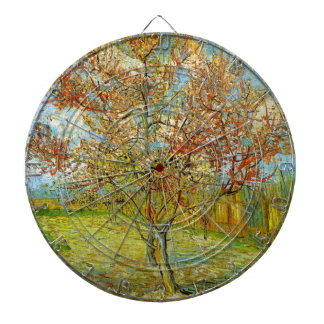 Van Gogh Pink Peach Tree in Blossom Vintage Art Dart Boards
