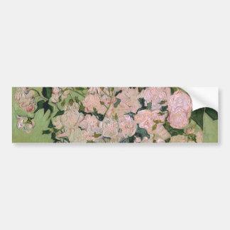 Van Gogh Pink Roses (F682) Fine Art Bumper Sticker