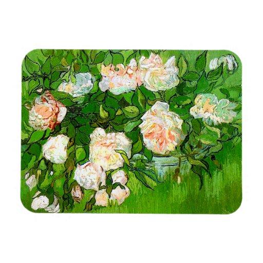 Van Gogh Pink Roses Magnet