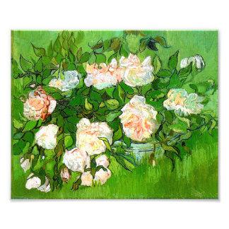 Van Gogh Pink Roses Print Photograph