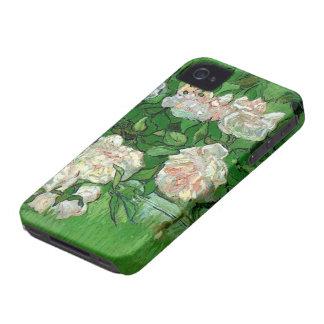 Van Gogh Pink Roses, Vintage Garden Fine Art iPhone 4 Cover