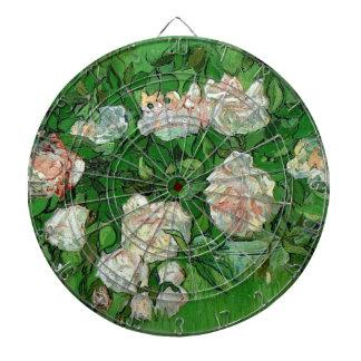 Van Gogh Pink Roses Vintage Still Life Art Dart Board
