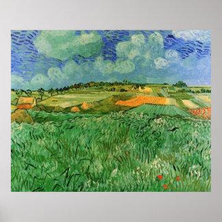 Van Gogh; Plain Near Auvers, Vintage Impressionism Poster