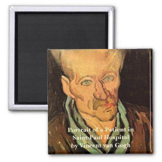 Van Gogh Portrait of a Patient Saint Paul Hospital Square Magnet