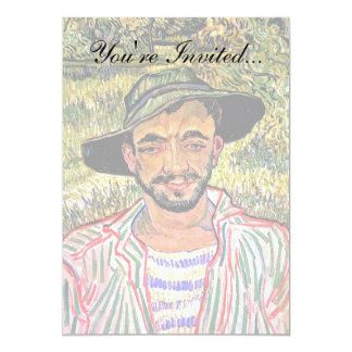 Van Gogh - Portrait Of A Young Peasant 13 Cm X 18 Cm Invitation Card