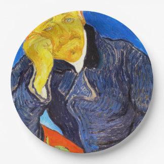 Van Gogh | Portrait of Dr. Gachet 9 Inch Paper Plate