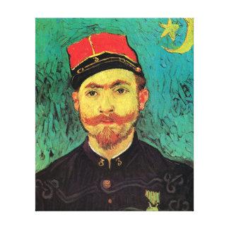 Van Gogh - Portrait Of Milliet Second Lieutenant Stretched Canvas Prints