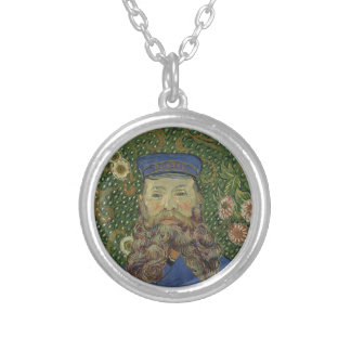 Van Gogh | Portrait of Postman Joseph Roulin II Silver Plated Necklace