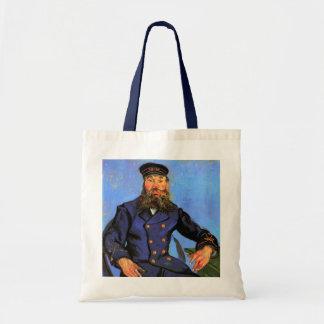 Van Gogh, Portrait of the Postman Joseph Roulin Canvas Bags