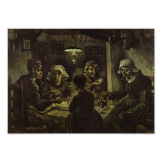 Van Gogh Potato Eaters Fine Art Poster