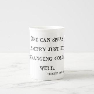 Van Gogh Quote Tea Cup