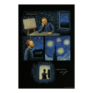 Van Gogh quote: The sight of the stars Poster