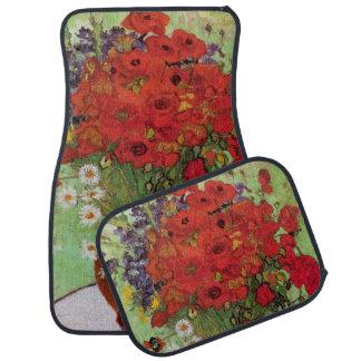 Van Gogh Red Poppies and Daisies, Fine Art Flowers Floor Mat