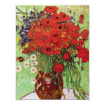 Van Gogh Red Poppies and Daisies Invitations