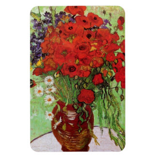 Van Gogh Red Poppies and Daisies Magnet
