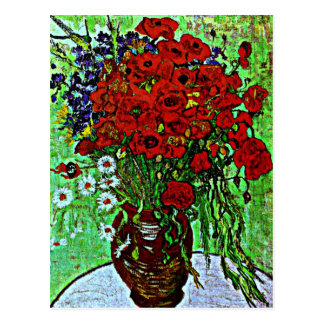 Van Gogh - Red Poppies and Daisies Postcard