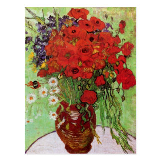 Van Gogh Red Poppies and Daisies Postcard