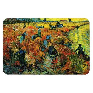 Van Gogh Red Vineyards at Arles Magnet