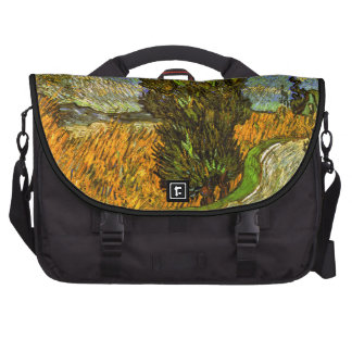 Van Gogh: Road with Cypress and Star Laptop Bag