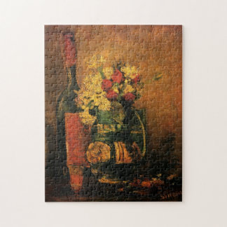 Van Gogh Romantic Fine Art with Roses and Wine Puzzle