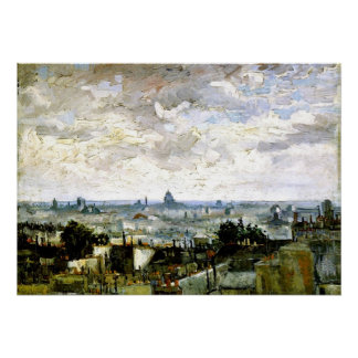 Van Gogh - Roofs of Paris Poster