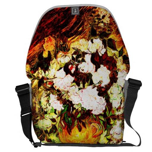 Van Gogh - Roses Messenger Bag