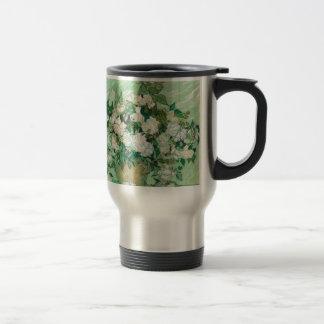 Van Gogh- Roses Stainless Steel Travel Mug