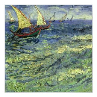 Van Gogh Seascape at Saintes-Maries Birthday Party Personalized Invitations